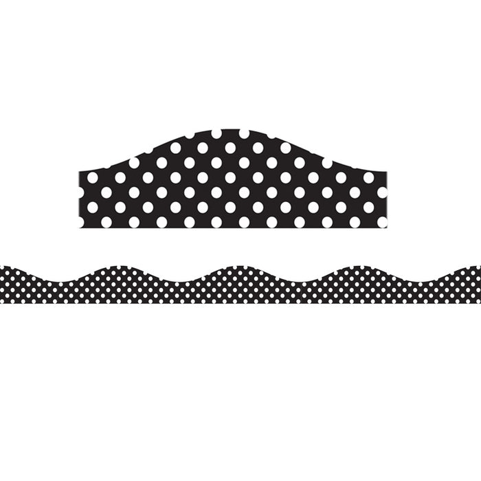 Big Magnetic Border Black & White Dots