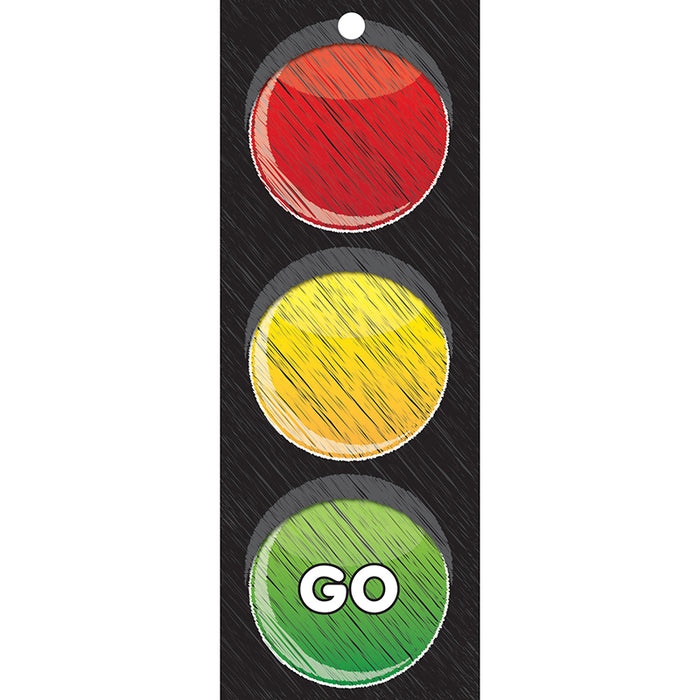 Traffic Light Card Stop Go 3x9 Laminated