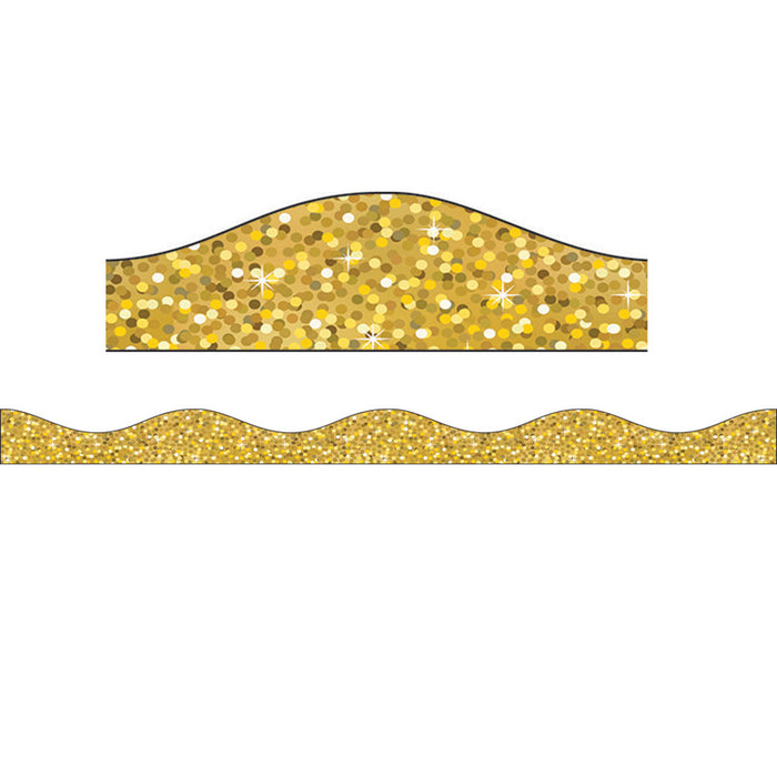 Magnetic Border Gold Sparkle