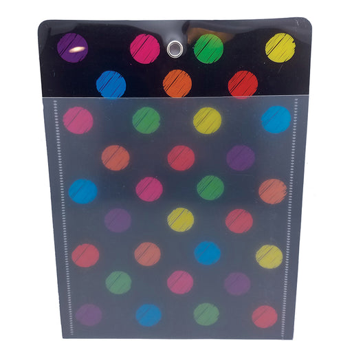 Smart Poly Folder Chalk Dots 10x13