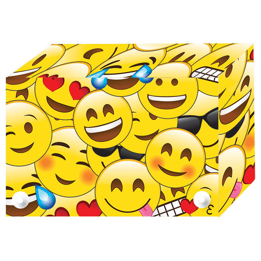 Emojis Index Card Boxes 3x5in Decorated Poly