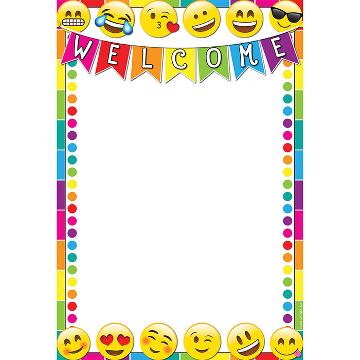 Emoji Welcome 13x19 Smart Chart Poly - Supplies by Teachers