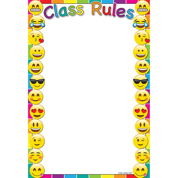 Emoji Class Rules 13x19 Smart Chart 13x19 Chart - Supplies by Teachers