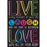 Live Laugh Love Dry Erase Gl 45m Smart Poly Surface 13x19 Chart - Supplies by Teachers