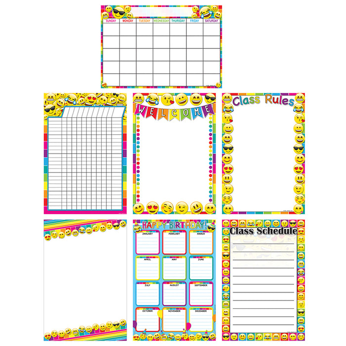 Emoji Charts 13x19 Asst Style 7pk Poly - Supplies by Teachers