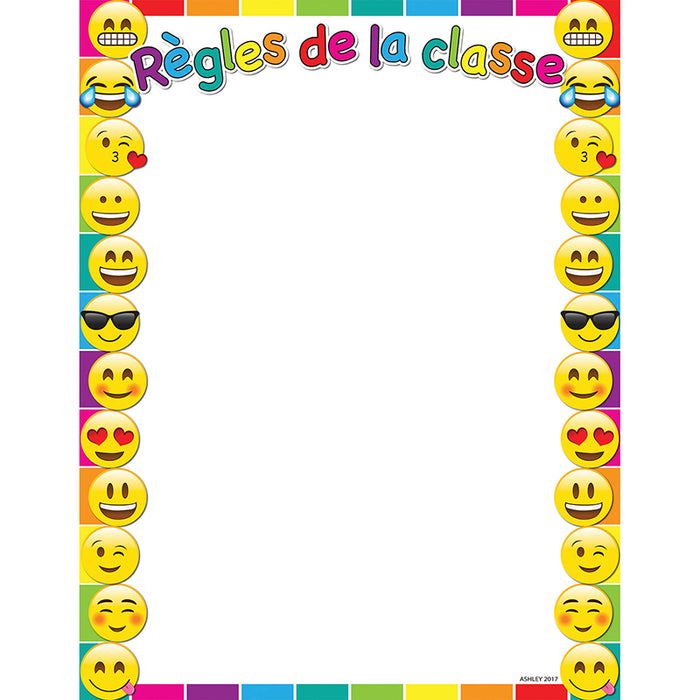 French Class Rules Dry Erase Gl 45 Smart Chart Surface 17x22 - Supplies by Teachers
