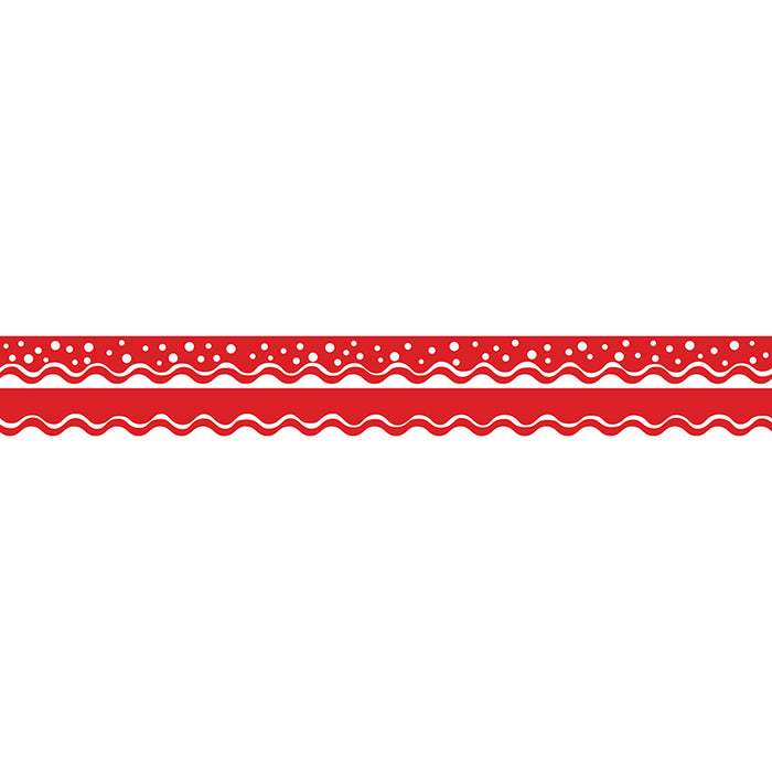 Happy Cherry Double-Sided Border Scalloped Edge