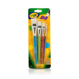 Crayola Big Paintbrush Set Flat 4pk - Supplies by Teachers