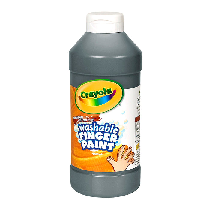 Washable Fingerpaint 16oz Black - Supplies by Teachers