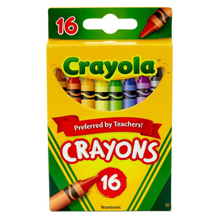 Crayola Regular Size Crayons 16pk - Supplies by Teachers