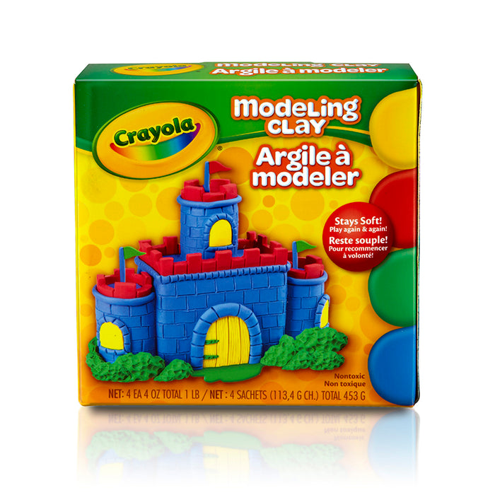 Modeling Clay 4 Pcs Red Blue Grn Yw - Supplies by Teachers