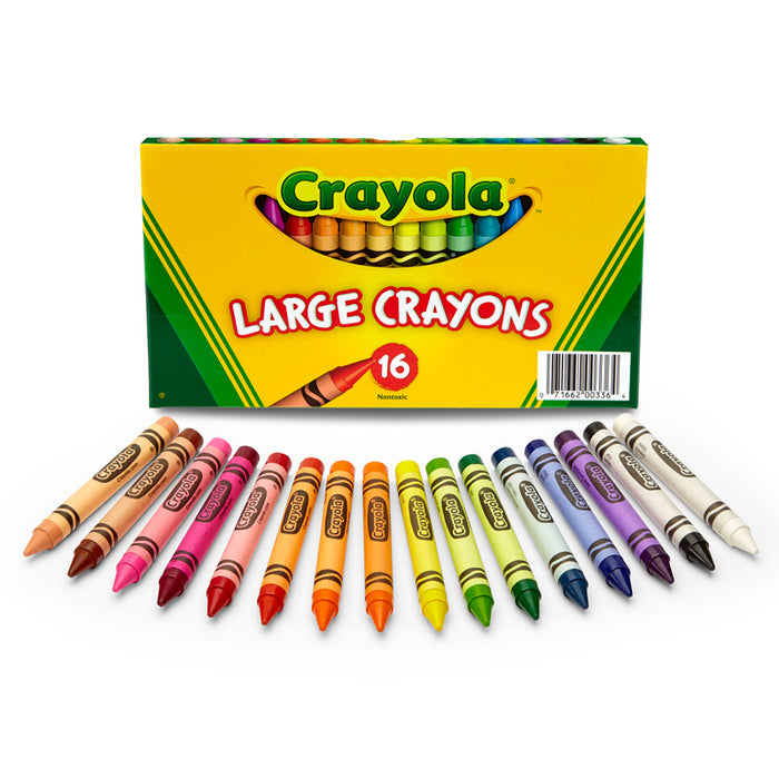 Crayola Large Size Crayon 16pk - Supplies by Teachers
