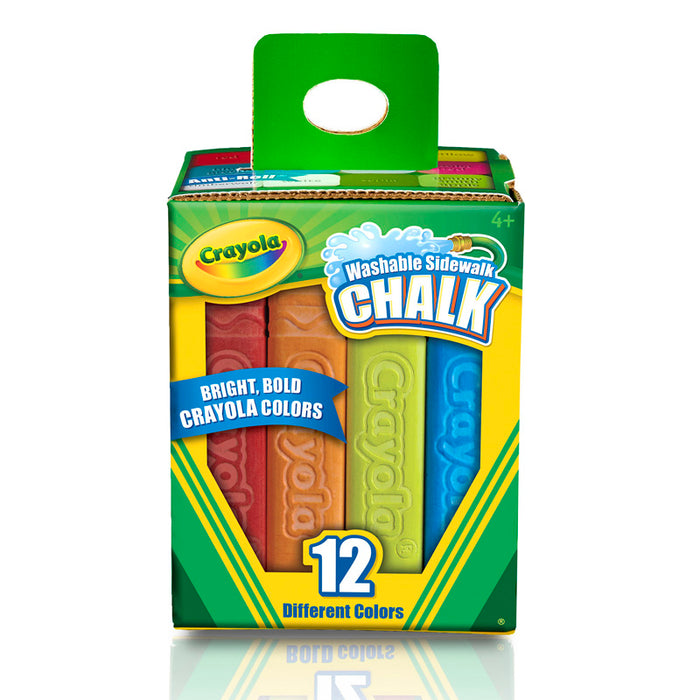 Crayola Washable Sidewalk Chalk 12 Ct - Supplies by Teachers