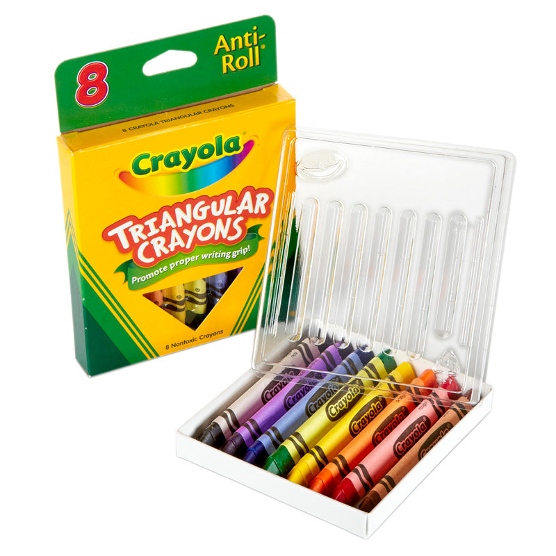 Crayola Triangular Crayons 8 Count - Supplies by Teachers