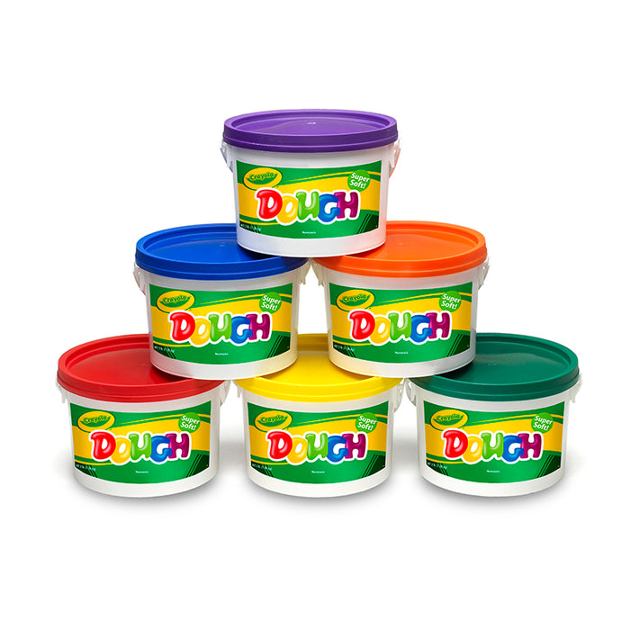 Crayola Dough Set Of 6 Tubs Red Orange Green Yellow Purple Blue - Supplies by Teachers