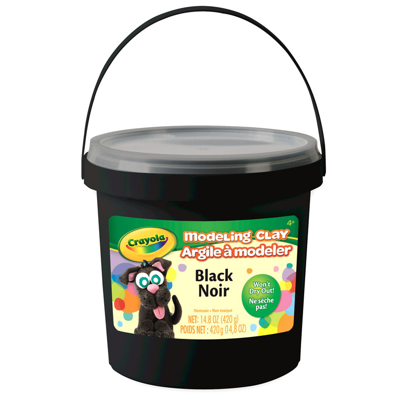 1 Lb Bucket Modeling Clay Black - Supplies by Teachers