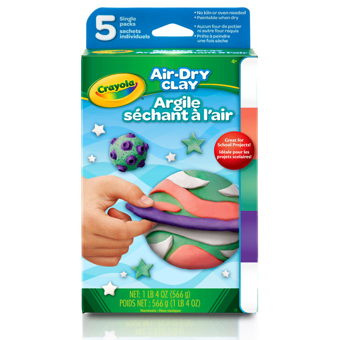 Air Dry Clay 5ct Bright Variety Pk - Supplies by Teachers