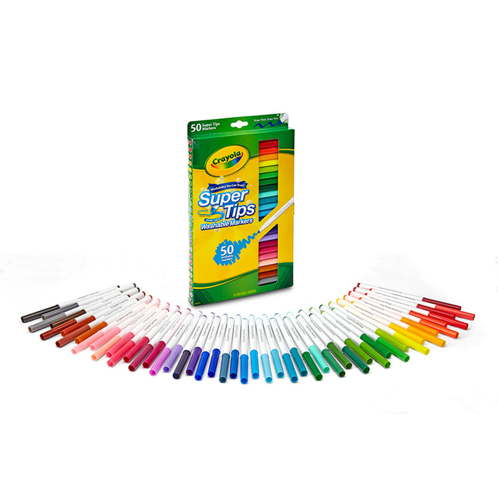 Washable Markers 50ct Super Tips W/Silly Scents - Supplies by Teachers