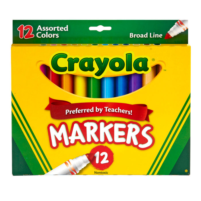 Crayola Markers 12ct Asst Colors Conical Tip - Supplies by Teachers