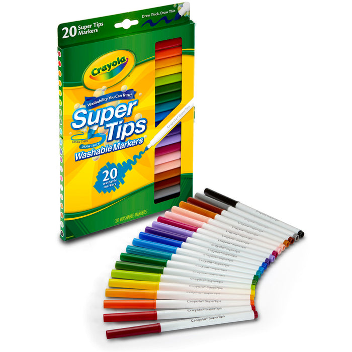 Washable Markers 20ct Super Tips W/Silly Scents - Supplies by Teachers