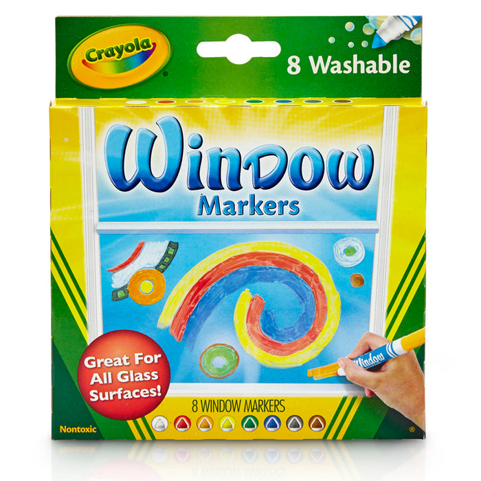 Crayola 8ct Washable Window Markers - Supplies by Teachers