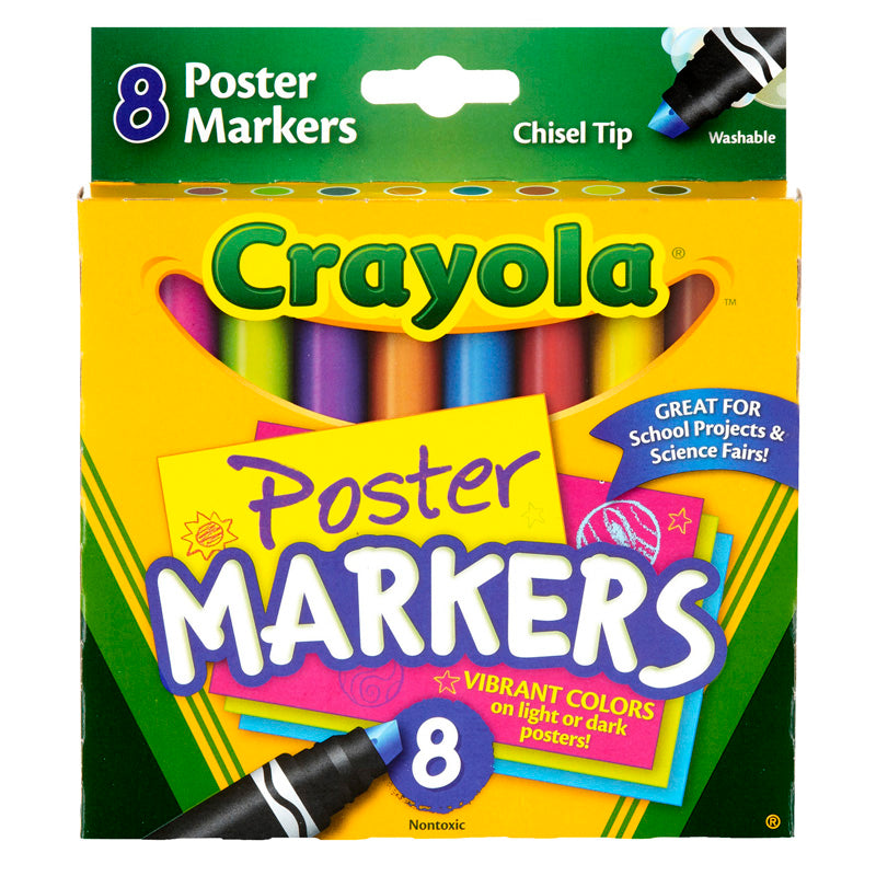 Crayola 8ct Poster Markers - Supplies by Teachers