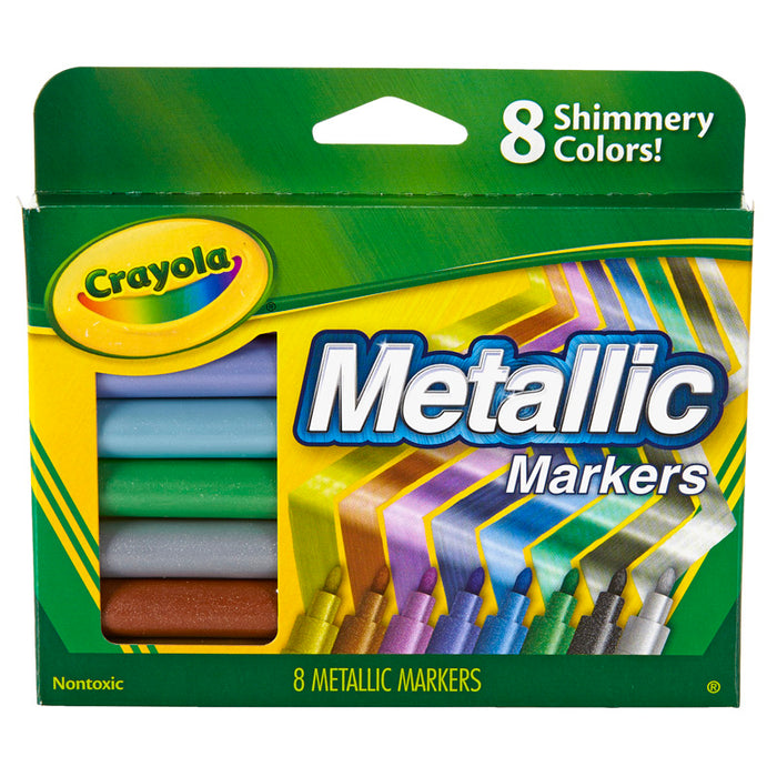 Crayola Metallic Markers 8 Colors - Supplies by Teachers