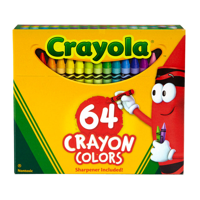Crayola Regular Size Crayon 64pk - Supplies by Teachers