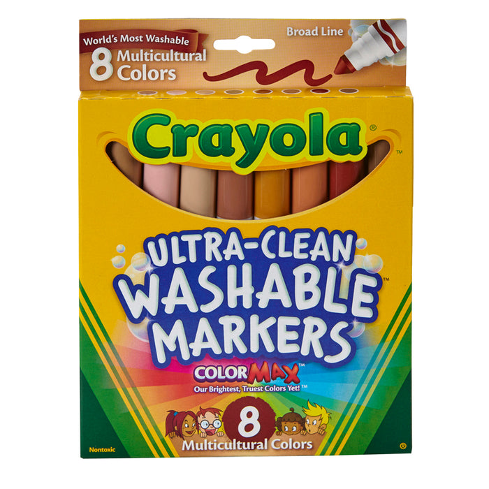 Multicultural Washable Markers 8pk Conical Tip - Supplies by Teachers