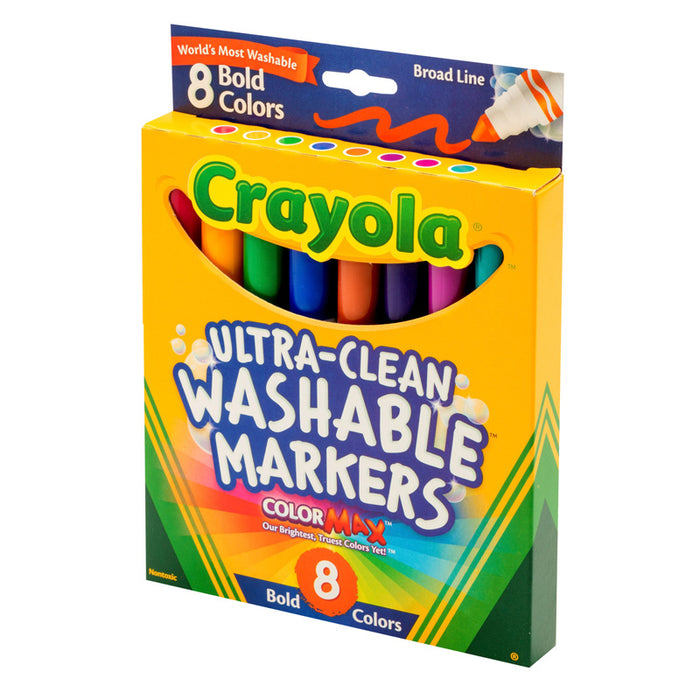 Washable Markers 8 Pk Bold Colors Conical Tip - Supplies by Teachers