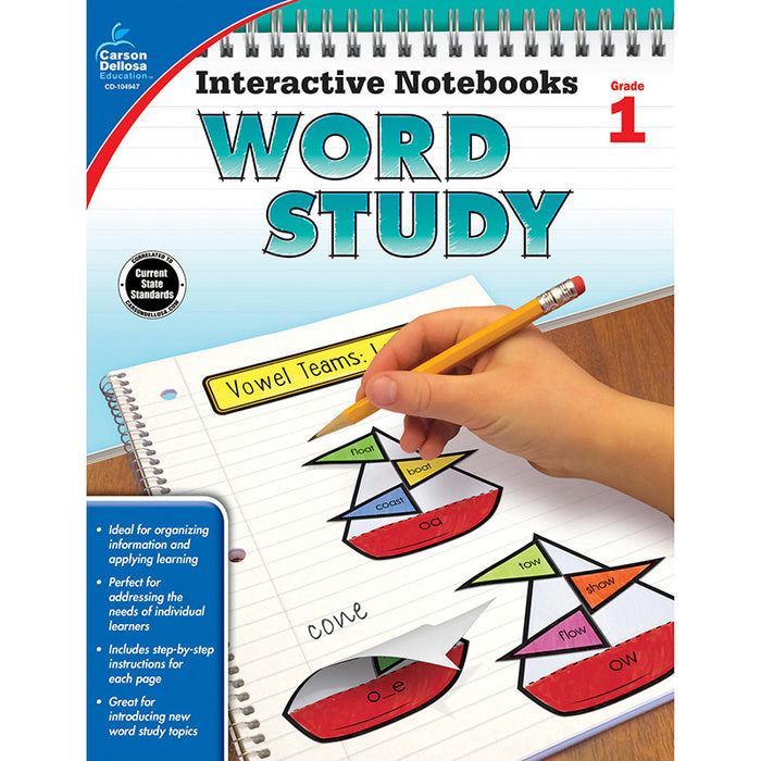 Interactive Notebook Word Study Book Grade 1 - Supplies by Teachers