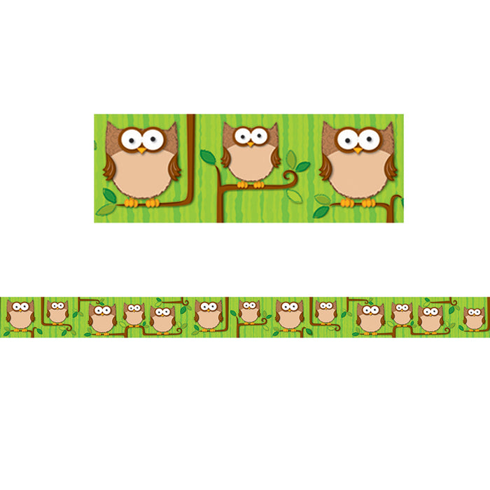 Woodland Owls Border
