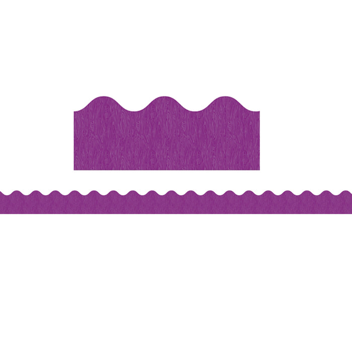 You-Nique Purple Ridge Scalloped Borders