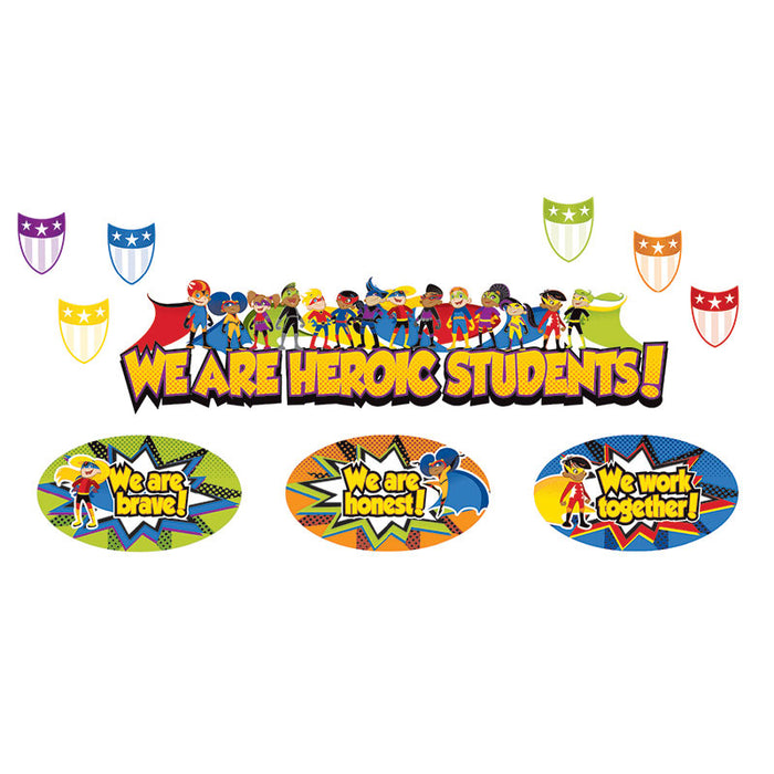 SUPER POWER HEROIC STUDENTS BB SET