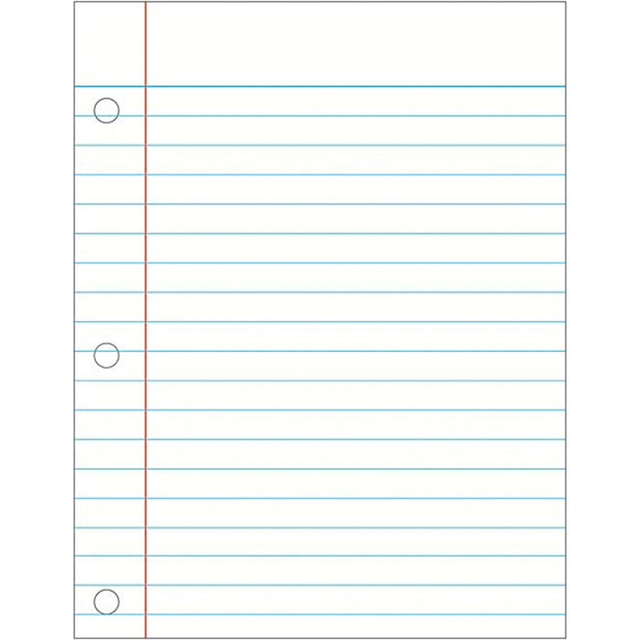 Notebook Paper Laminated Chartlet - Supplies by Teachers
