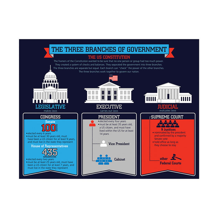 Three Branches Of Government Chart - Supplies by Teachers