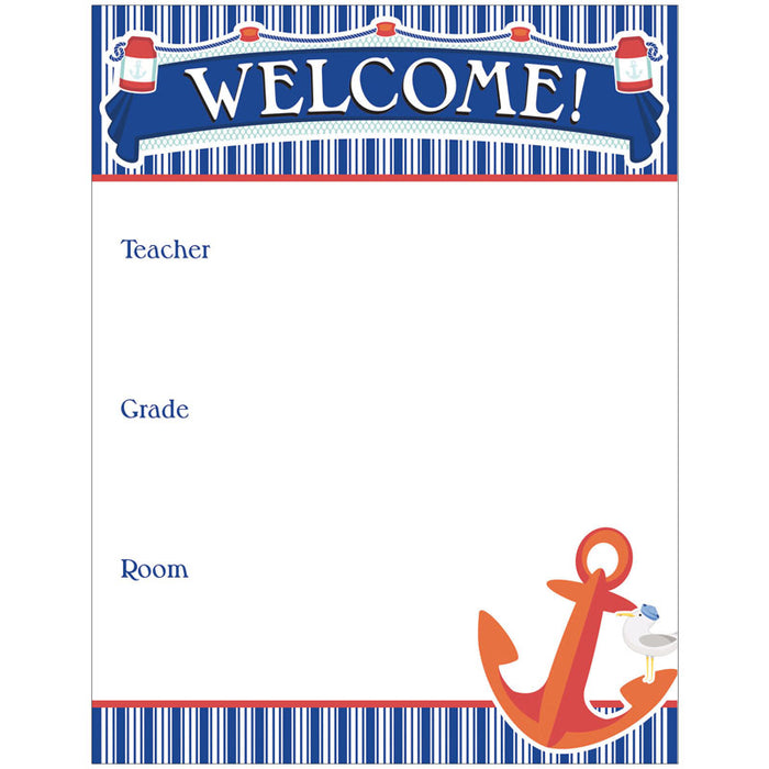 Welcome Chartlet Gr Pk-8 Decorative - Supplies by Teachers