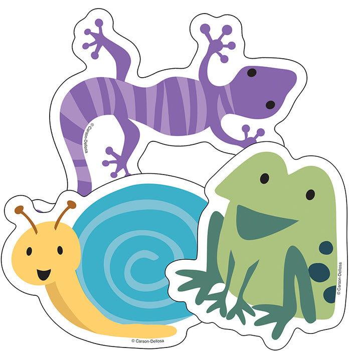 Nature Cutouts Frog Lizard Snail Explorer Colorful