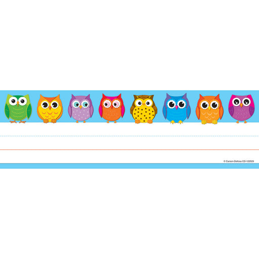 Colorful Owls Nameplates 36ct