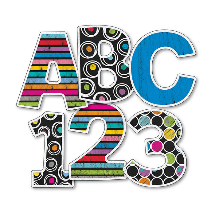 Colorful Chalkboard 4in Ez Letters