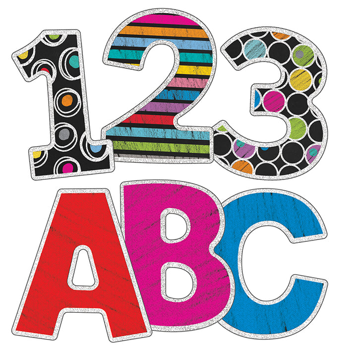 Colorful Chalkboard 3in Ez Letters