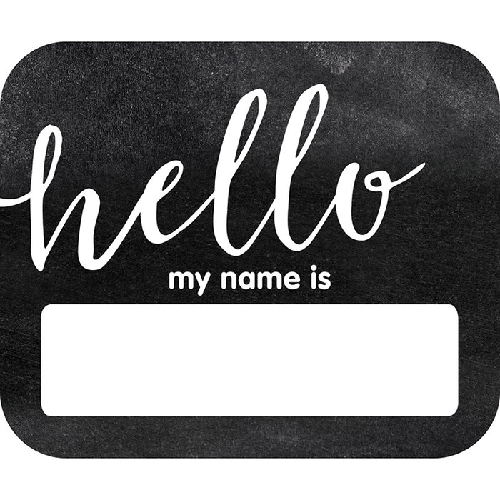 INDUSTRIAL CHIC HELLO NAME TAGS SCHOOL GIRL STYLE - Supplies by Teachers