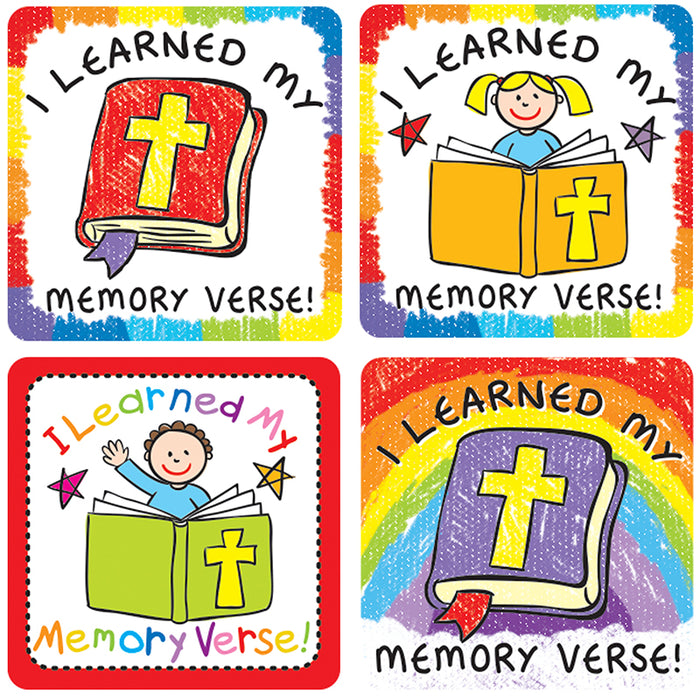 I Learned My Memory Verse Stickers 120 Pc 120 Pc
