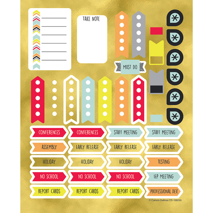 AIM HIGH PLANNER ACCENT STICKERS