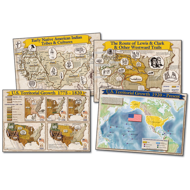 Bb Set Historical Maps Of The Us 17x24 - Supplies by Teachers