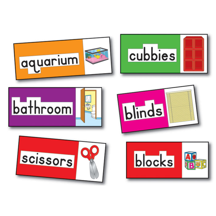 BB SET PRINT-RICH CLASSROOM LABELS 56 ILLUSTRATED WORD CARDS
