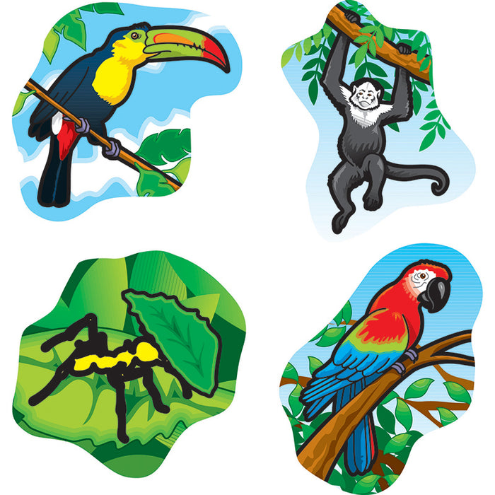 RAINFOREST ANIMALS STICKERS 120 PER