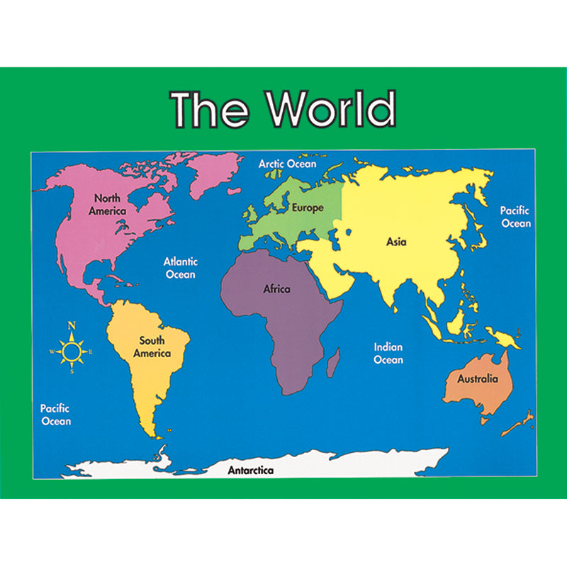 Chartlet World Map 17 X 22 - Supplies by Teachers