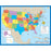 Chartlet Map Of The Us 17 X 22 - Supplies by Teachers