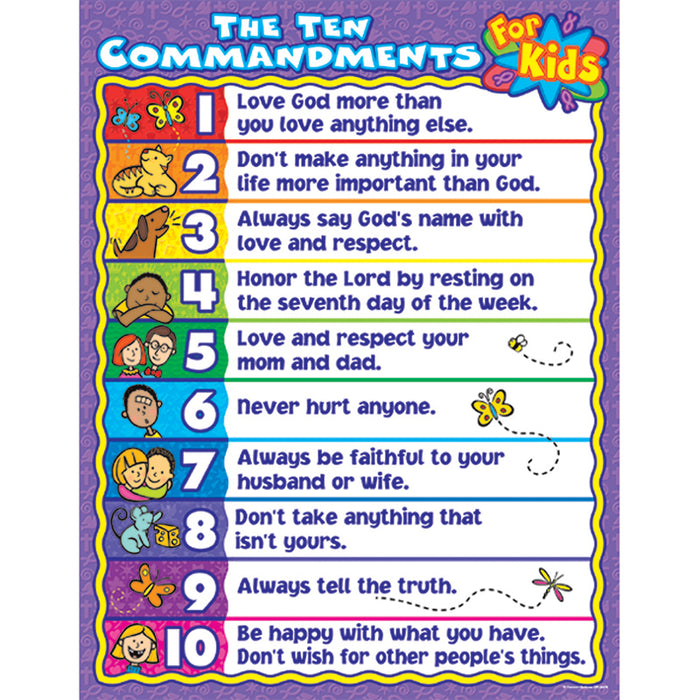 The Ten Commandments For Kids - Supplies by Teachers